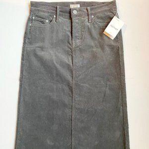MOTHER Corduroy Cutout Skirt Hopscotch Grey